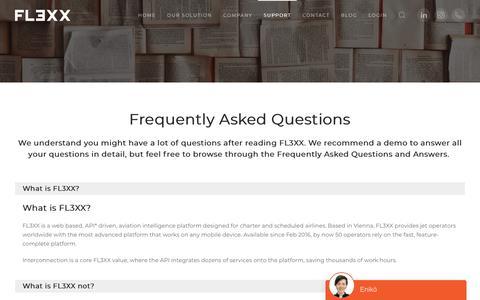 Screenshot of FAQ Page fl3xx.com - F.A.Q. - FL3XX - captured Nov. 4, 2018