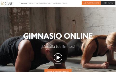 Screenshot of Home Page ictiva.com - Tu Gimnasio en casa. Haz ejercicios en casa online con nuestros vídeos. Con nuestro gimnasio virtual podrás hacer gimnasia en casa cómodamente. - ictiva - captured Oct. 16, 2017