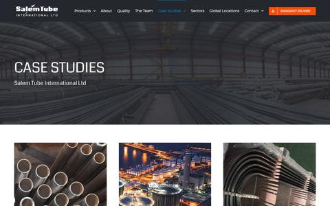 Screenshot of Case Studies Page salemtube.net - Case Studies – Salem Tube International - captured Oct. 1, 2018