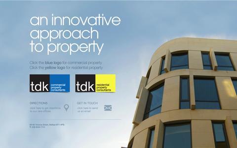 Screenshot of Home Page tdkproperty.com captured Oct. 7, 2014