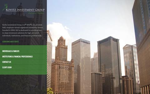 Screenshot of Home Page kovitz.com - Kovitz Investment Group - captured Oct. 6, 2014
