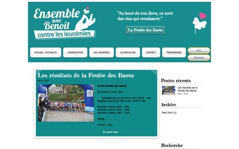 Screenshot of Blog ensemble-avec-benoit.com - ensemble-avec-benoit   Actualité - captured Oct. 28, 2018