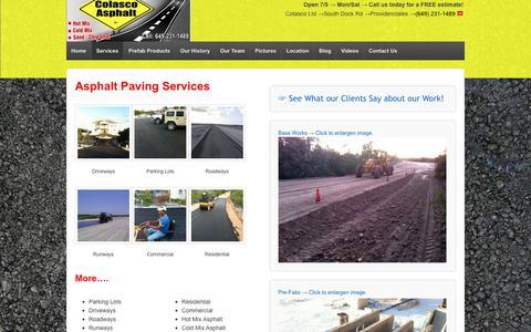 Screenshot of Services Page pavingcontractortci.com - Asphalt Paving Services   Driveways   Parking Lots   Roads   Pre-fab   - captured Aug. 11, 2017