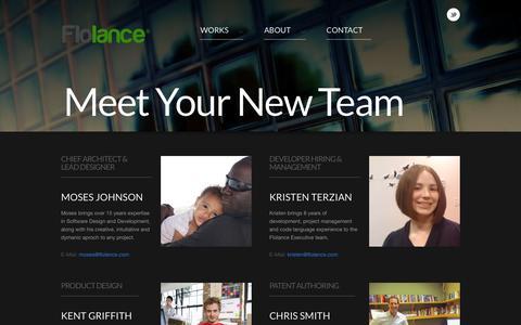 Screenshot of Team Page flolance.com - FLOLANCE - captured Oct. 6, 2014