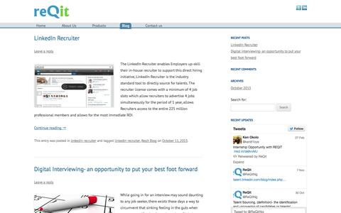 Screenshot of Blog reqit.com.ng - Reqit | Official LinkedIn EMEA Talent Solutions Partners - captured Oct. 7, 2014