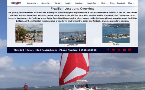 Screenshot of Locations Page flexisail.com - Flexisail Sailing Locations - captured Aug. 3, 2016