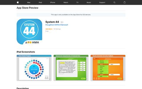 System 44 on the AppStore
