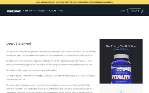 Legal | Blue Star Nutraceuticals