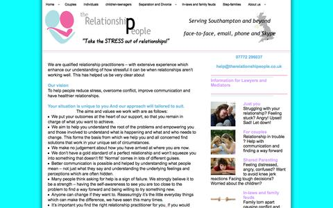 Screenshot of About Page therelationshipeople.co.uk - About us - The Relationship PeopleThe Relationship People - captured Feb. 28, 2016