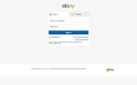 Sign in or Register | eBay