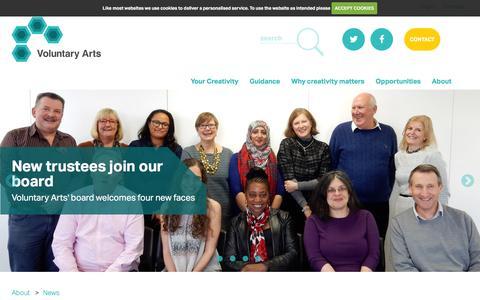 Screenshot of Press Page voluntaryarts.org - Voluntary Arts | News - captured Jan. 3, 2017