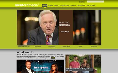 Screenshot of Home Page mentorn.tv - Home | Mentorn Media - captured Oct. 6, 2014