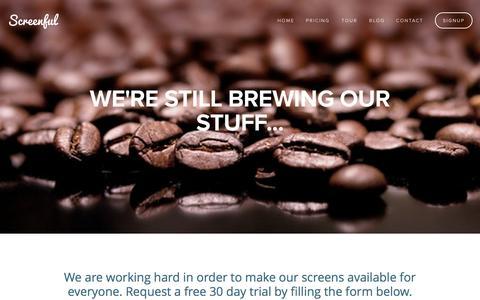 Screenshot of Signup Page screenful.me - Screenful - Signup — Screenful - captured Sept. 30, 2014
