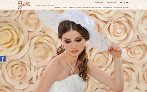 Screenshot of Home Page bajabella.pl - Bolerka | Bajabella Producent, Dodatki Ślubne, Bolerka,  Welony Ślubne, Halki - captured Sept. 24, 2014