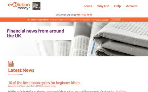 Screenshot of Press Page evolutionmoney.co.uk - We Bring You The Latest News | Evolution Money - captured Nov. 10, 2019