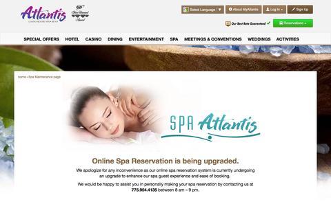 Screenshot of atlantiscasino.com - Maintenance - captured March 20, 2016