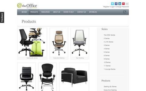 Screenshot of Products Page attheoffice.com - Products - captured Oct. 3, 2014
