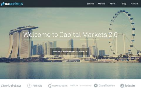 DXMarkets | Welcome to capital markets 2.0 | Blockchain solutions
