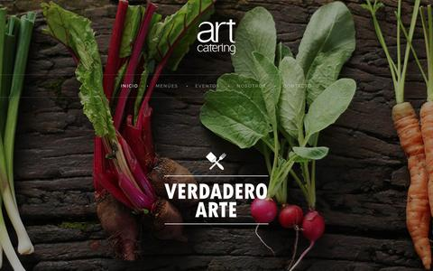 Screenshot of Home Page art-catering.com.ar - Art Catering - captured Oct. 2, 2018