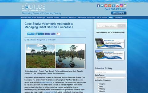 Screenshot of Blog solitudelakemanagement.com - Lake And Pond Management Knowledge, Perspectives And SOLutions - captured July 26, 2018