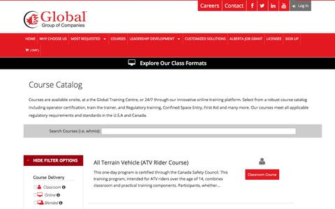 Screenshot of Products Page globaltrainingcentre.com - Global Training Centre - Global Training Centre - captured July 20, 2018