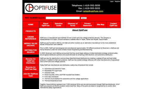 Screenshot of About Page optifuse.com - OptiFuse - -About Us - captured March 30, 2019