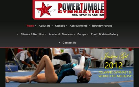 Screenshot of Home Page powertumblegymnastics.com - Power Tumble Gymnastics - captured Dec. 10, 2015