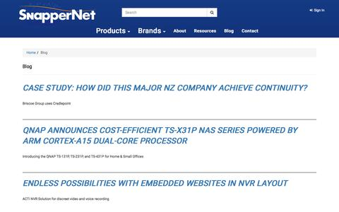 Screenshot of Blog snappernet.co.nz - Distributor of Networking products including Routers, Switches, NAS and VoIP solutions - Snapper Network Distributors - captured Dec. 6, 2016