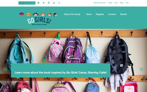 Screenshot of Home Page gogirlscamp.com - Go Girls! Camp | Take Center Stage. - captured March 1, 2016