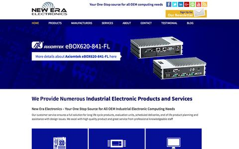 Screenshot of Home Page neweraelectronics.com - New Era Electronics — Your One Stop Source for all OEM Computing Needs - captured Oct. 1, 2014