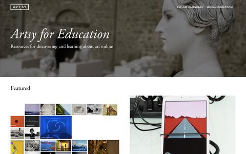 Artsy for Education