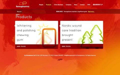 Screenshot of Products Page fennopharma.fi - Products - Fennopharma - captured Oct. 5, 2014