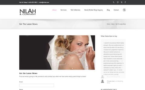 Screenshot of Signup Page nilah.com - Nilah & Company   –  Get The Latest News - captured Oct. 7, 2014