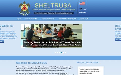 Screenshot of Home Page sheltrusa.com - SHELTR USA - captured Dec. 18, 2015