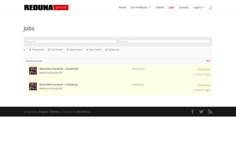 Screenshot of Jobs Page reduna.com - Jobs - Reduna - captured Dec. 17, 2016