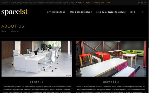 Screenshot of About Page spaceist.co.uk - About Spaceist Furniture London - captured May 26, 2017
