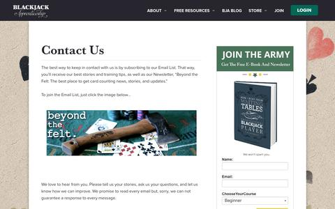 Screenshot of Contact Page blackjackapprenticeship.com - Contact Us - Blackjack Apprenticeship - captured July 29, 2016