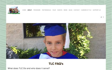 Screenshot of FAQ Page learningwithtlc.org - TLC FAQ's — TLC Learning Center - captured Dec. 1, 2016