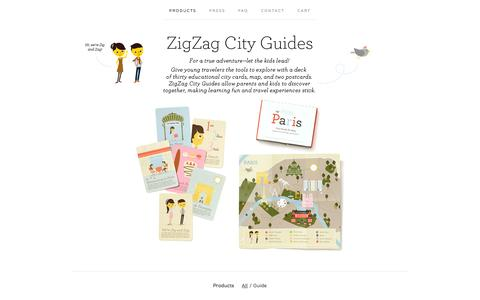 Screenshot of Products Page bigcartel.com - Products / ZigZag City Guides - captured Sept. 19, 2014