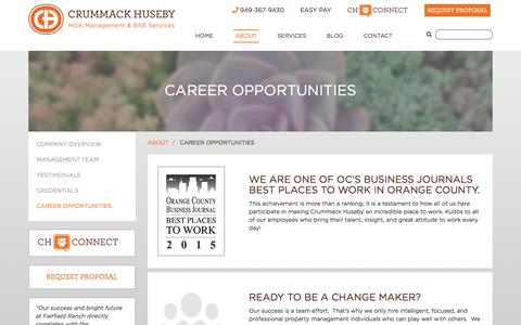 Screenshot of Jobs Page ch-pm.com - Career Opportunities - captured Jan. 22, 2016