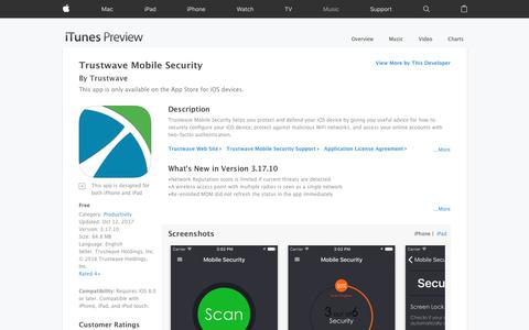 Trustwave Mobile Security on the App Store