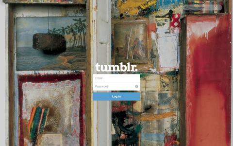 Screenshot of Tumblr Page tumblr.com - Log in | Tumblr - captured Oct. 23, 2014