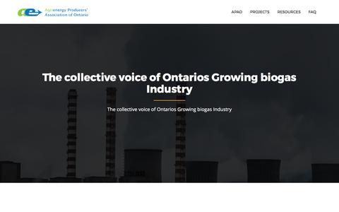 Screenshot of About Page apao.ca - About – APAO - captured Oct. 7, 2017