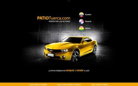 Screenshot of Home Page patiotuerca.com - PATIOTuerca - Compra - Venta de Autos, Motos y Vehículos Nuevos o Usados en Ecuador y Panamá - captured Sept. 19, 2014