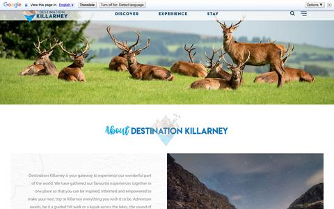Screenshot of About Page destinationkillarney.ie - About - Destination Killarney - captured Sept. 28, 2018