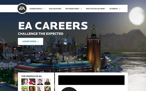Screenshot of Jobs Page ea.com - Home | EA Careers - captured Sept. 16, 2014