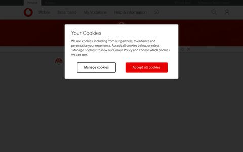 Screenshot of Contact Page vodafone.co.uk - How to get in touch with Vodafone - captured Sept. 30, 2019