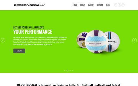 Screenshot of Home Page responseball.com - RESPONSEBALL - Innovative training balls.Responseball - captured Oct. 8, 2014