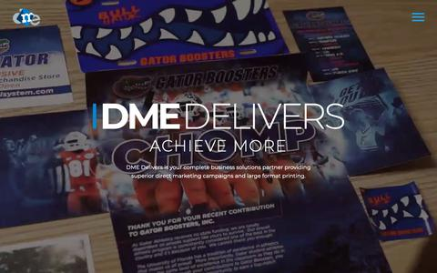 Screenshot of Home Page dmedelivers.com - Direct Marketing Company | Direct Mail | DME Delivers - captured May 24, 2019