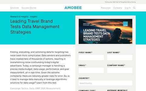 Screenshot of Team Page amobee.com - Leading Travel Brand Tests Data Management Strategies — Amobee - captured Nov. 18, 2019